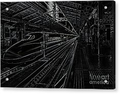 Tokyo To Kyoto, Bullet Train, Japan Negative Acrylic Print