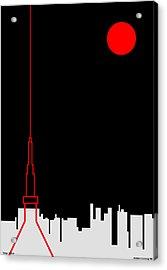 Tokyo Tower Acrylic Print by Asbjorn Lonvig