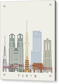 Tokyo V2 Skyline Poster Acrylic Print