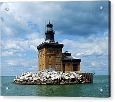 Acrylic Print featuring the photograph Toledo Harbor Lighthouse by Michiale Schneider