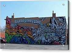 Acrylic Print featuring the photograph Toledo Loves Love by Michiale Schneider