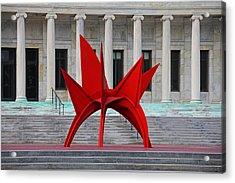 Toledo Museum Of Art With Alexander Calder 1973 'stegosaurus' II Acrylic Print