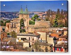 Toledo Town View Acrylic Print by Joan Carroll