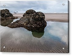 Tolovana Beach At Low Tide Acrylic Print