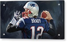 Tom Brady Artwork Acrylic Print