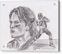 Tom Brady Acrylic Print by Chris  DelVecchio
