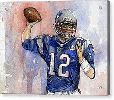 Tom Brady Acrylic Print by Michael  Pattison