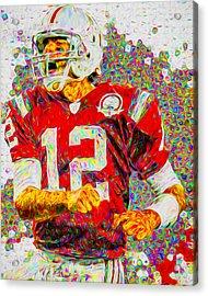 Tom Brady New England Patriots Football Nfl Painting Digitally Acrylic Print