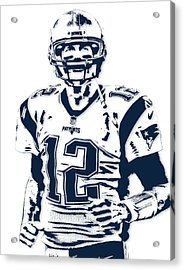 Tom Brady New England Patriots Pixel Art 6 Acrylic Print
