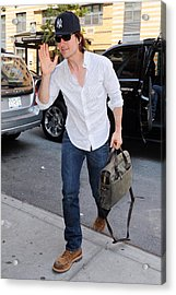 Tom Cruise Carrying A Filson Bag Acrylic Print by Everett
