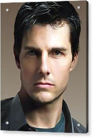 Tom Cruise Acrylic Print by Dominique Amendola