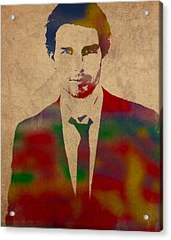 Tom Cruise Watercolor Portrait Acrylic Print
