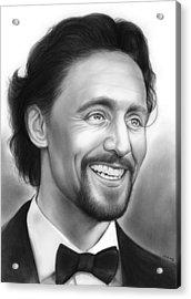 Tom Hiddleston Acrylic Print by Greg Joens