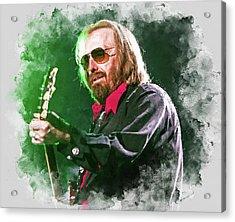 Tom Petty - 20 Acrylic Print by Andrea Mazzocchetti