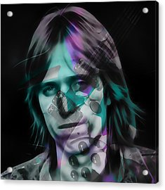 Acrylic Print featuring the mixed media Tom Petty Rock Royalty by Marvin Blaine