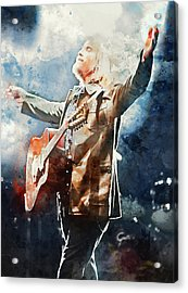 Tom Petty - Watercolor Portrait 13 Acrylic Print