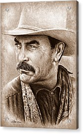 Tom Selleck The Western Collection Acrylic Print