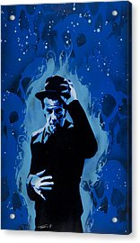 Tom Waits Acrylic Print by Tai Taeoalii