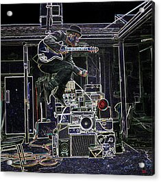 Tom Waits Jamming Acrylic Print