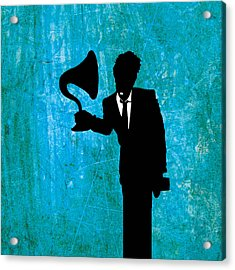 Tom Waits Acrylic Print by Janina Aberg