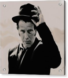 Tom Waits Acrylic Print by Jeff DOttavio