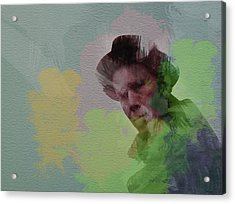 Tom Waits Acrylic Print by Naxart Studio