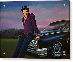 Tom Waits Acrylic Print by Paul Meijering