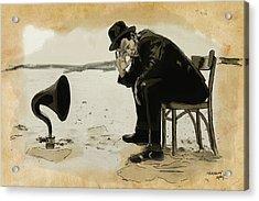 Tom Waits Acrylic Print by Sean King