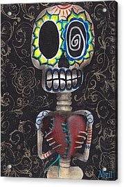 Toma Mi Corazon Acrylic Print by  Abril Andrade Griffith
