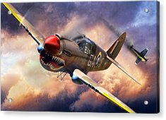 Tomahawk Chop Acrylic Print by Peter Chilelli