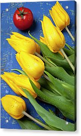 Tomato And Tulips Acrylic Print by Garry Gay