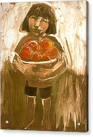 Tomato Girl Acrylic Print