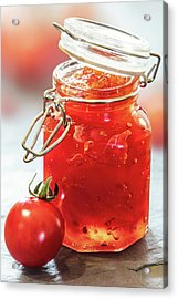 Tomato Jam In Glass Jar Acrylic Print
