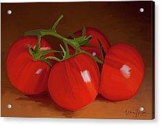 Tomatoes 01 Acrylic Print by Wally Hampton