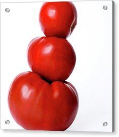 Tomatoes Acrylic Print by Bernard Jaubert