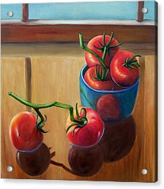 Tomatoes Fresh Off The Vine Acrylic Print by Susan Dehlinger