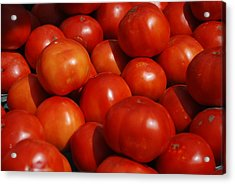Tomatoes Acrylic Print by William Thomas