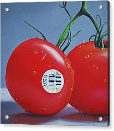 Tomatoes With Sticker Acrylic Print