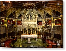 Tomb Of Saint Eulalia In The Crypt Of Barcelona Cathedral Acrylic Print