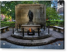 Tomb Of The Unknown Revolutionary War Soldier - George Washington  Acrylic Print