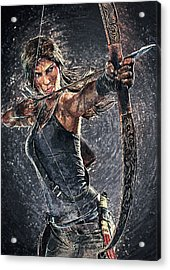 Tomb Raider Acrylic Print by Taylan Apukovska