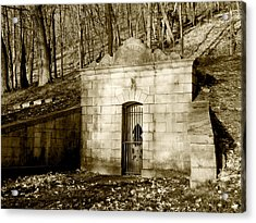 Tomb With A View In Sepia Acrylic Print