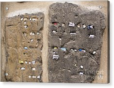 Tombstone Wall In Old Jewish Cemetery. Prague Acrylic Print