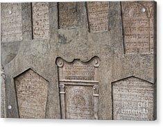 Tombstone Wall Acrylic Print