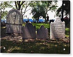 Tombstones Acrylic Print by Kelley King