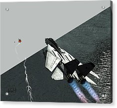 Acrylic Print featuring the digital art Tomcat Kill by Walter Chamberlain