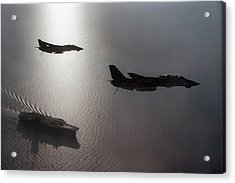 Acrylic Print featuring the photograph Tomcat Silhouette  by Peter Chilelli