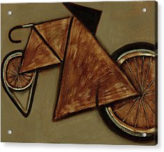 Acrylic Print featuring the painting Tommervik Art Bicycle Bike Art Print by Tommervik