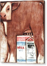 Acrylic Print featuring the painting Tommervik Cows Milk Art Print by Tommervik