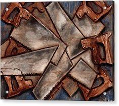 Tommervik Cubism Antique Hand Saws Art Print Acrylic Print